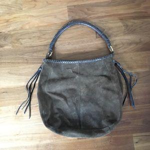 Brown bag with tassels